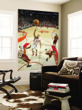 Cleveland Cavaliers v Houston Rockets: Shane Battier and Leon Powe Wall Mural by Bill Baptist
