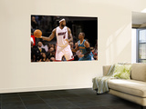New Orleans Hornets v Miami Heat: LeBron James and Chris Paul Wall Mural by Mike Unknown
