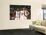Indiana Pacers v Utah Jazz: Andrei Kirilenko, Raja Bell and Paul Millsap Wall Mural by Melissa Majchrzak