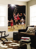 New Jersey Nets v Toronto Raptors: Devin Harris and Amir Johnson Wall Mural by Ron Turenne