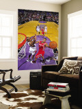 Houston Rockets v Sacramento Kings: Kyle Lowry and Carl Landry Wall Mural by Rocky Widner