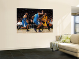 New Orleans Hornets v Los Angeles Lakers - Game Five, Los Angeles, CA - April 26: Kobe Bryant, Trev Wall Mural