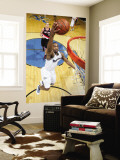 Portland Trail Blazers v Washington Wizards: Gilbert Arenas and Joel Przybilla Wall Mural by Ned Dishman