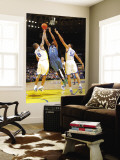 Minnesota Timberwolves v Golden State Warriors: Corey Brewer, Monta Ellis and Dan Gadzuric Wall Mural by Rocky Widner