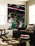 Boston Celtics v Charlotte Bobcats: Paul Pierce, Kevin Garnett and Gerald Wallace Wall Mural by  Streeter