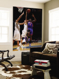 New York Knicks v Washington Wizards: Amar'e Stoudemire, Yi Jianlian and JaVale McGee Wall Mural by Ned Dishman