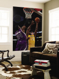 Sacramento Kings v Los Angeles Lakers: Jason Thompson and Ron Artest Wall Mural by Jeff Gross