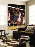 New Orleans Hornets v Miami Heat: Jarrett Jack and Juwan Howard Wall Mural by Mike Unknown