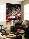 Minnesota Timberwolves v Chicago Bulls: Kyle Korver, Corey Brewer and Taj Gibson Wall Mural by Ray Amati