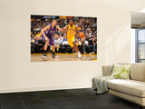 Sacramento Kings v Los Angeles Lakers: Ron Artest and Francisco Garcia Wall Mural by Noah Graham