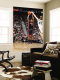 Miami Heat v Utah Jazz: Mario Chalmers and Andrei Kirilenko Wall Mural by Melissa Majchrzak