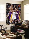 Los Angeles Lakers v Minnesota Timberwolves: Wesley Johnson, Pau Gasol and Kobe Bryant Wall Mural by David Sherman