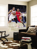 Los Angeles Clippers v Oklahoma City Thunder, Oklahoma City, OK - February 22: Randy Foye and Thabo Wall Mural by Layne Murdoch