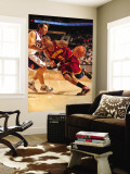 Cleveland Cavaliers  v Phoenix Suns, Phoenix - January 9: Mo Williams and Steve Nash Wall Mural by Barry Gossage