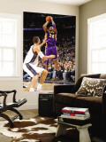 Los Angeles Lakers v New Jersey Nets: Kobe Bryant and Brook Lopez Wall Mural by Andrew Bernstein