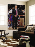 New York Knicks v Denver Nuggets: Mike D&#39; Antonio Wall Mural by Garrett Ellwood