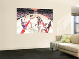 Los Angeles Lakers v Houston Rockets: Kobe Bryant and Chuck Hayes Wall Mural by Bill Baptist
