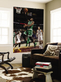 Boston Celtics v Cleveland Cavaliers: Rajon Rondo, J.J. Hickson and Anderson Varejao Wall Mural by David Liam Kyle