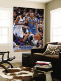 New Orleans Hornets v Denver Nuggets, Denver - January 9: David West and Nene Wall Mural by Garrett Ellwood