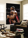 Miami Heat v Washington Wizards: Dwyane Wade and Chris Bosh Wall Mural by Greg Fiume