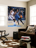 Minnesota Timberwolves v Oklahoma City Thunder: Anthony Tolliver and Jeff Green Wall Mural by Layne Murdoch