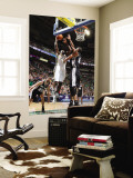 San Antonio Spurs v Utah Jazz: Al Jefferson and Tim Duncan Wall Mural by Melissa Majchrzak