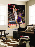 Los Angeles Lakers v New Jersey Nets: Brook Lopez and Derrick Caracter Wall Mural by Andrew Bernstein