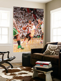 Boston Celtics v Miami Heat - Game Five, Miami, FL - MAY 11: Dwyane Wade and Delonte West Wall Mural by Victor Baldizon
