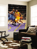 Washington Wizards v Los Angeles Lakers: Kobe Bryant and Hilton Armstrong Wall Mural by Andrew Bernstein