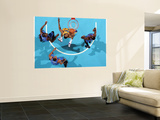 Oklahoma City Thunder v New Orleans Hornets: D.J. Mbenga Wall Mural by Chris Unknown