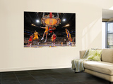 Chicago Bulls v Los Angeles Lakers: Derrick Rose and Pau Gasol Wall Mural by Andrew Bernstein