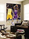 Los Angeles Lakers v New Orleans Hornets, New Orleans, LA - APRIL 22: Kobe Bryant and Trevor Ariza Wall Mural by Layne Murdoch