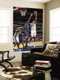 Charlotte Bobcats v Memphis Grizzlies: Hamed Haddadi and DeSagana Diop Wall Mural by Joe Murphy