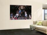 Minnesota Timberwolves v Dallas Mavericks: Jason Terry, Brendan Haywood and Darko Milicic Wall Mural by Glenn James