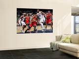 Chicago Bulls v Atlanta Hawks - Game Three, Atlanta, GA - MAY 6: Joe Johnson, Al Horford and Derric Wall Mural by Kevin Cox