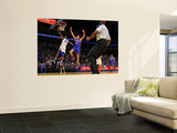 New York Knicks v Golden State Warriors: Dorell Wright and Danilo Gallinari Wall Mural by Rocky Widner