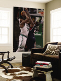 Atlanta Hawks v Boston Celtics: Paul Pierce and Josh Smith Wall Mural by Elsa Unknown