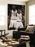 Phoenix Suns v Boston Celtics, Boston, MA - March 02: Rajon Rondo and Kevin Garnett Wall Mural by Elsa Unknown