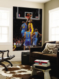 New Orleans Hornets v Los Angeles Lakers - Game Five, Los Angeles, CA - April 26: Kobe Bryant and E Wall Mural