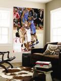 Oklahoma City Thunder v Houston Rockets: Russell Westbrook and Shane Battier Wall Mural by Bill Baptist