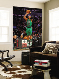 Foot Locker Three-Point Contest, Los Angeles, CA - February 19: Ray Allen Wall Mural by Garrett Ellwood