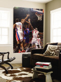 New York Knicks v Detroit Pistons: Amar'e Stoudemire, Tracy McGrady and Ben Wallace Wall Mural by Allen Einstein