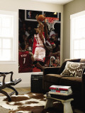 Miami Heat v Chicago Bulls - Game Two, Chicago, IL - MAY 18: Derrick Rose and LeBron James Wall Mural by Jonathan Daniel