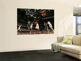 Boston Celtics v Cleveland Cavaliers: Rajon Rondo, Ramon Sessions and Ryan Hollins Wall Mural by David Liam Kyle