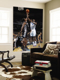 San Antonio Spurs v New Orleans Hornets: Emeka Okafor and Antonio McDyess Wall Mural by Layne Murdoch