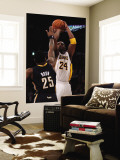 Indiana Pacers v Los Angeles Lakers: Kobe Bryant and Brandon Rush Wall Mural by Jeff Gross