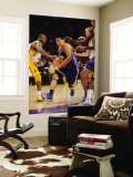 Golden State Warriors v Los Angeles Lakers: Jeremy Lin and Kobe Bryant Wall Mural by Noah Graham