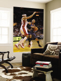 Charlotte Bobcats v Miami Heat: D.J. Augustin and Eddie House Wall Mural by Mike Ehrmann