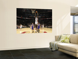 Los Angeles Lakers v Toronto Raptors: Julian Wright, Steve Blake and Matt Barnes Wall Mural by Ron Turenne