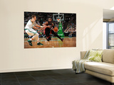 Miami Heat v Boston Celtics - Game Four, Boston, MA - MAY 9: Dwyane Wade and Delonte West Vgplakat af Brian Babineau